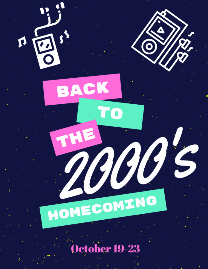 Photo Courtesy Of: Student Council 2020-2021 Shadow Ridge Homecoming theme is back to the 2000s.