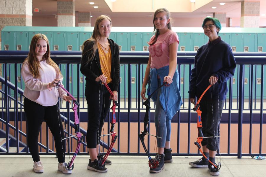 Members of Shadow Ridge High Schools Archery club.