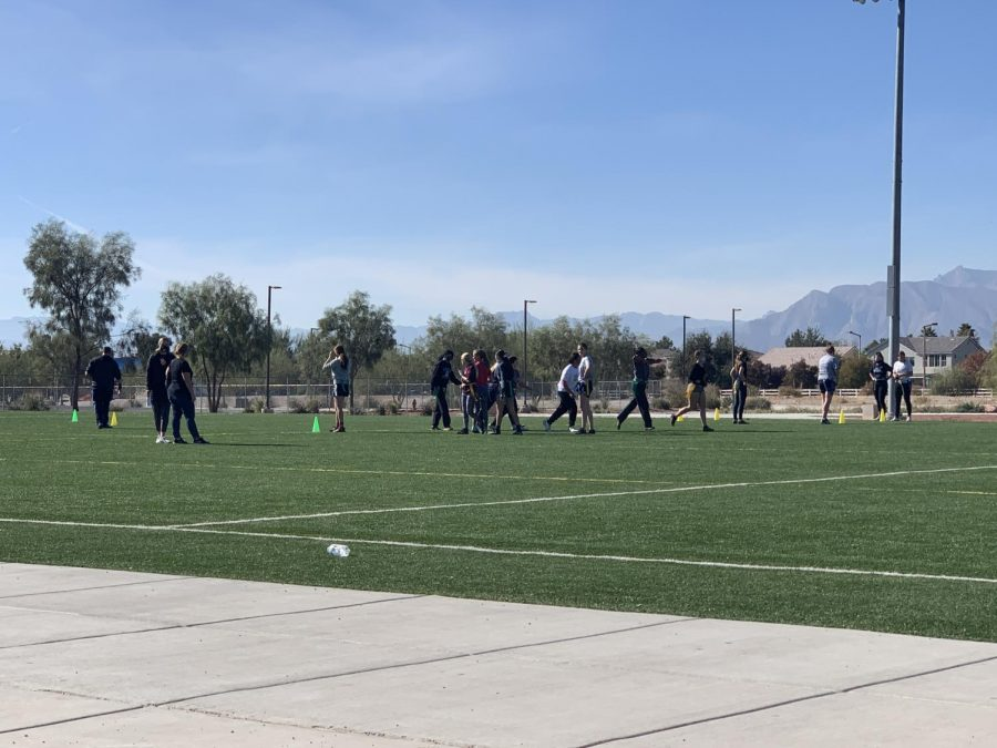 The Northwest Flag Football Club during a practice.