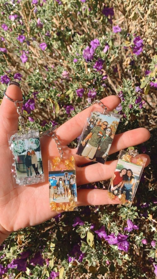 Photo Keychains are one of Alia's products, selling for $8.