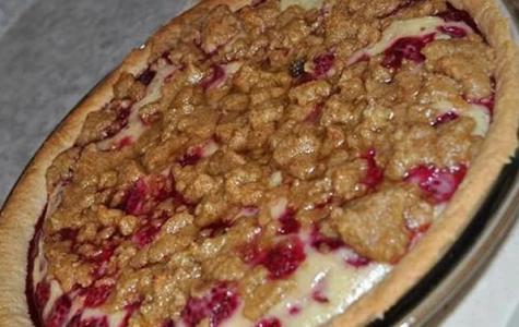 "Mr. Bushman's ""Raspberry Sour Cream Pie"""