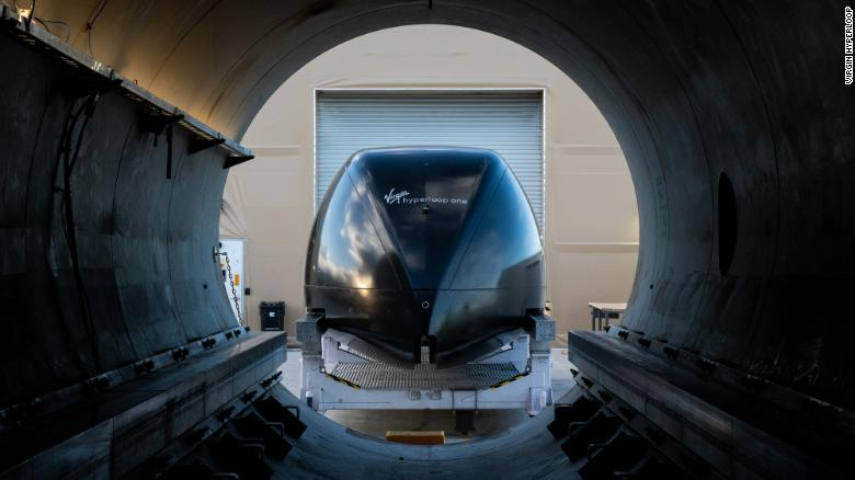 Image of the Hyper-loop from inside the vacuum tunnel.