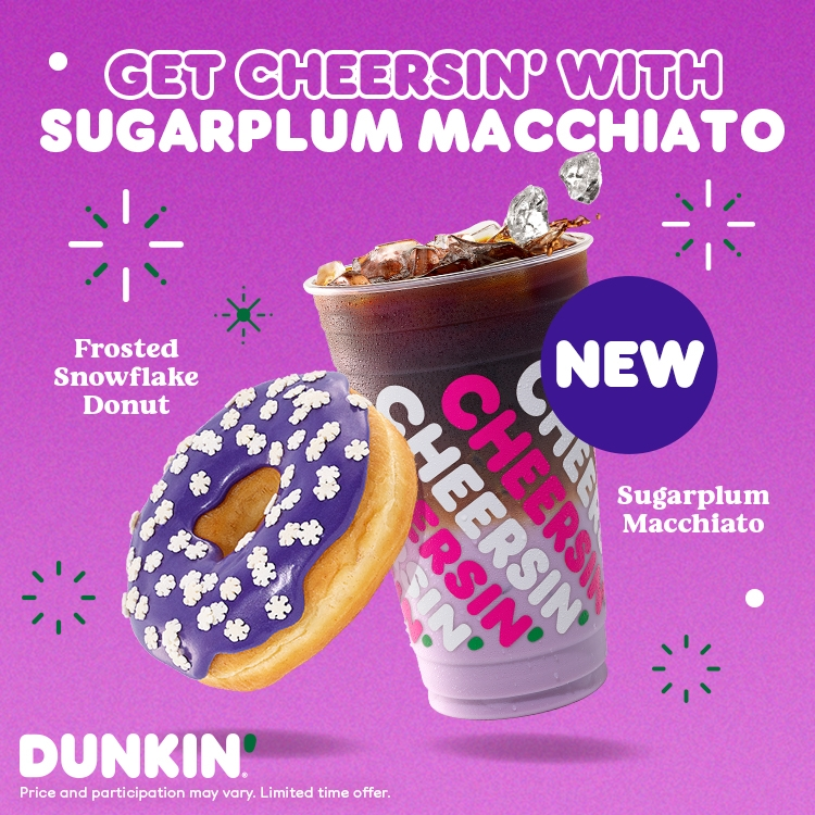 The New Sugarplum Macchiato at Dunkin Donuts!!