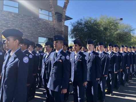 AFJROTC Cadets at Veterans Day Parade