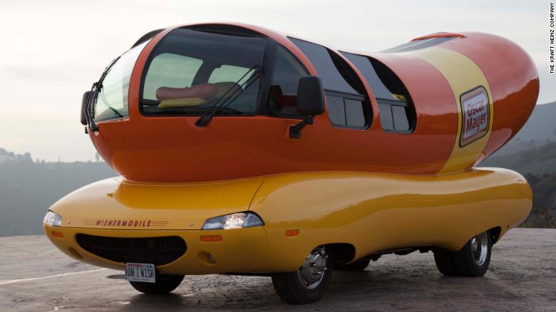 This is an image of the 27-foot-long Wienermobile.