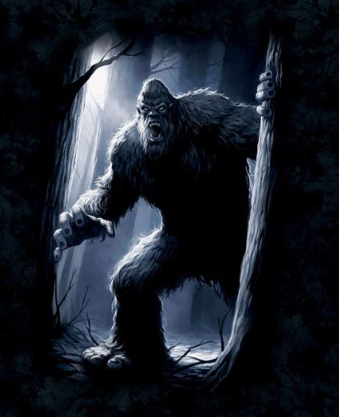 An illustration of Bigfoot