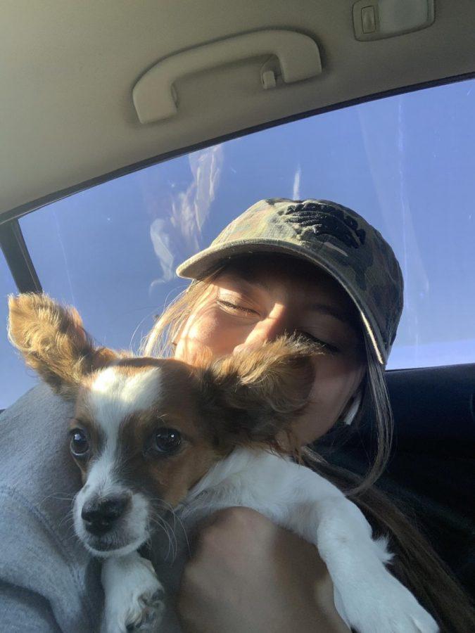 Viri Serralde's dog Skylar