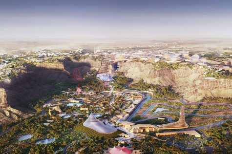 This is what the new Six Flags will look like in Saudi Arabia.