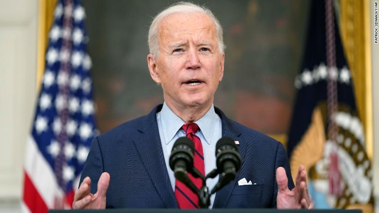 President Joe Biden speaks about the shooting in Boulder, Colorado.