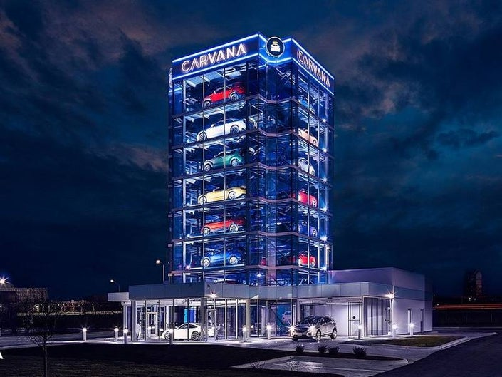 Carvana car vending machine.