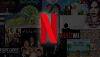 The Netflix logo and some of their shows