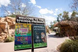 This is an entrance sign at the Springs Preserve.