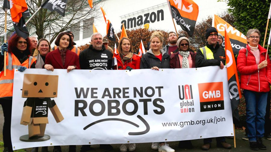 Thousands of Amazon Workers Protesting