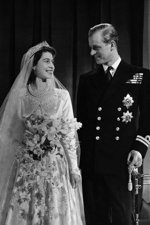 Queen Elizabeth II and Prince Philip on their wedding day more than 70 years ago