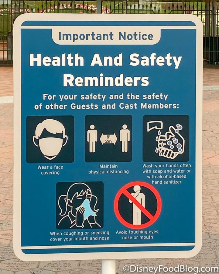 Heath and Safety Reminder for Disneyland Guests