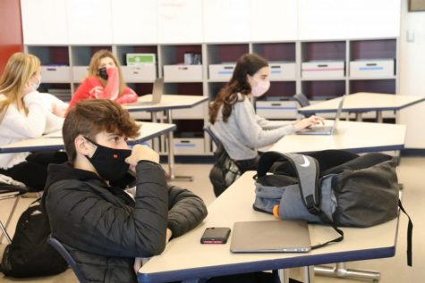 Students participate in face to face instruction