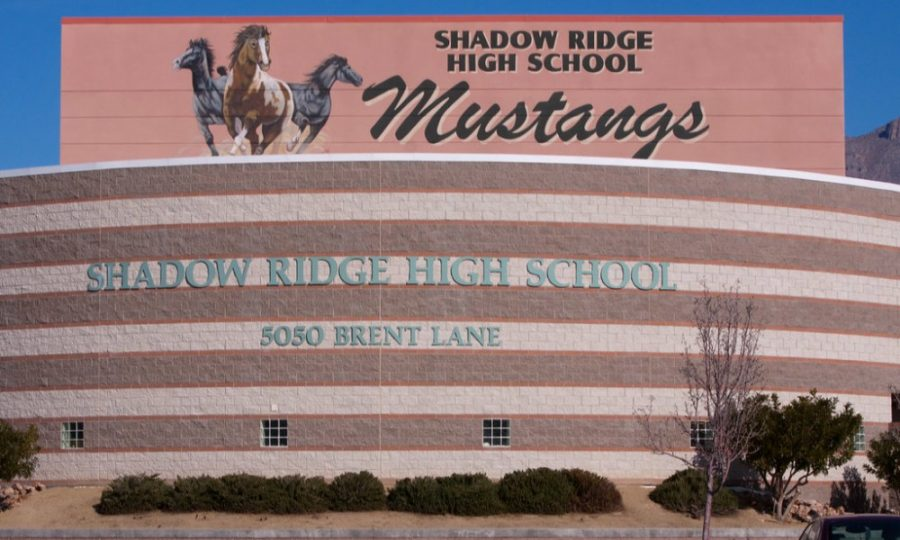 This is an image of the front of Shadow Ridge High School