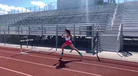 Stosich works on improving her form in hurdles
