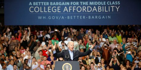 President Joe Biden at one of his rallys.