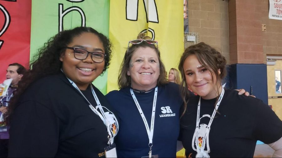 Mrs. Gibo with her students