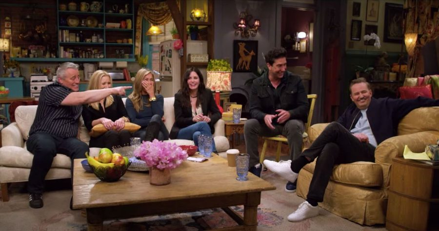 The cast of friends catching up in a sneak peak of the reunion