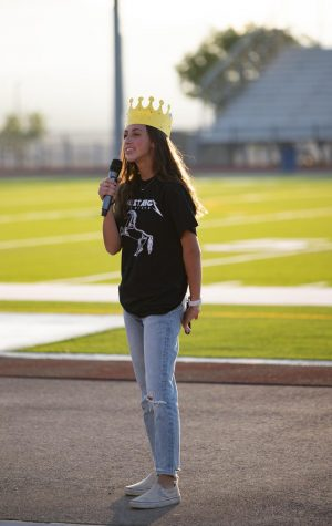 Alexis Abney gives a speech at the senior sunrise (Photo By: Mrs. Mason)