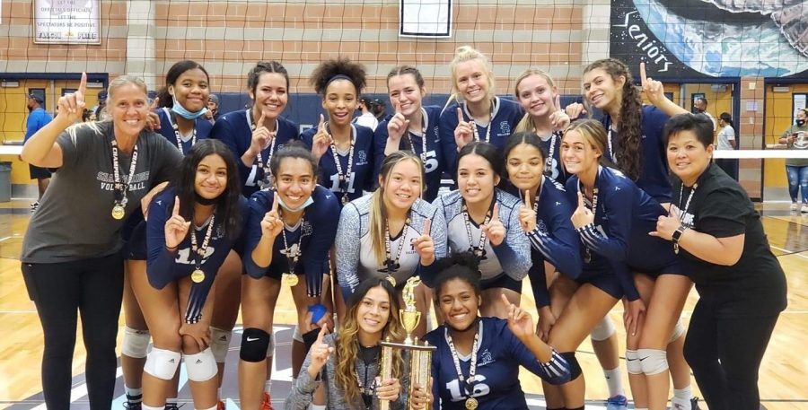 SRHS Womens Volleyball takes 1st at the LVI Classic