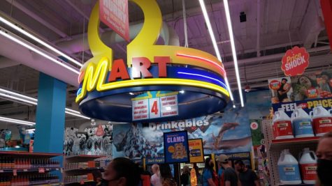 The entrance to Omega Mart!
