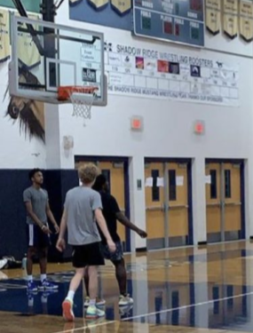 The Mens Basketball Team getting ready for the season.